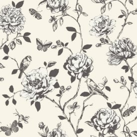 Floral rasch wallpaper i want wallpaper rasch amour flower bird butterfly floral pattern silver glitter wallpaper 204308 mightylinksfo