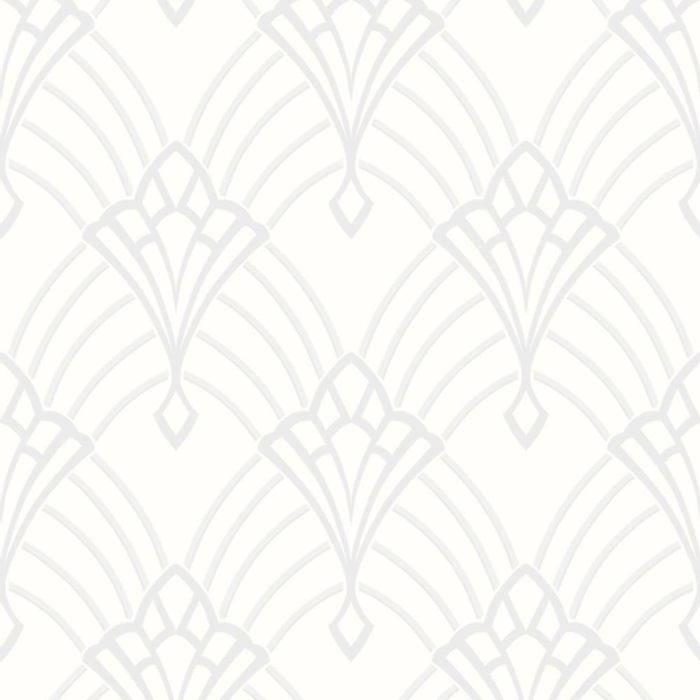 Rasch Art Deco Pattern Wallpaper Arch Embossed Metallic Glitter 305302