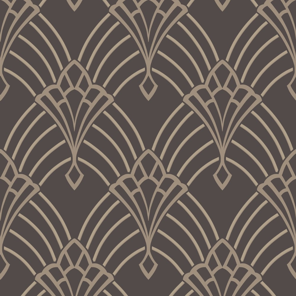Rasch Art Deco Pattern Wallpaper Arch Embossed Metallic Glitter 305319