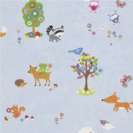 Rasch Bambino Woodland Creatures Wallpaper 287448
