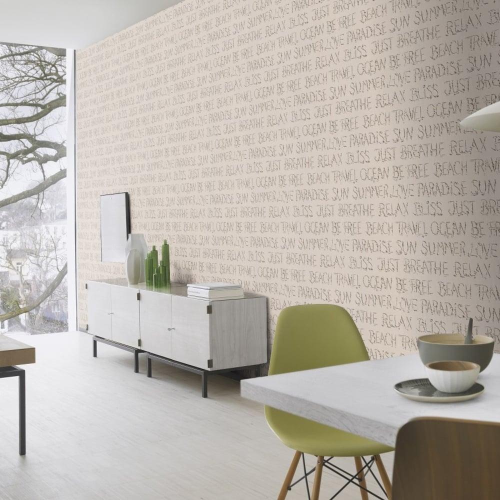 rasch barbara becker beach sand typography pattern wallpaper modern textured 476309 sand i. Black Bedroom Furniture Sets. Home Design Ideas