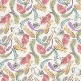 Rasch Barbara Becker Bird Feathers Pastel Motif Pattern Multi Coloured Wallpaper 712988