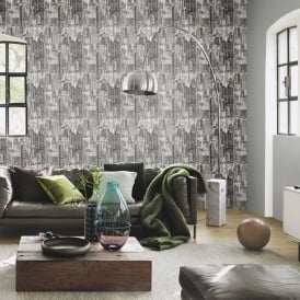 Rasch Barbara Becker City Pattern Wallpaper Modern Metallic Embossed 479942
