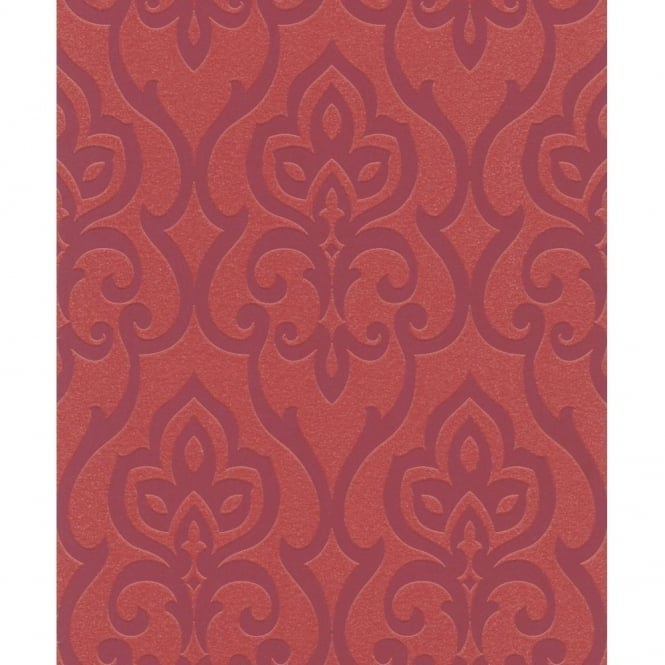 Rasch Barbara Becker Damask Motif Patterned Metallic Textured Glitter Wallpaper 717037