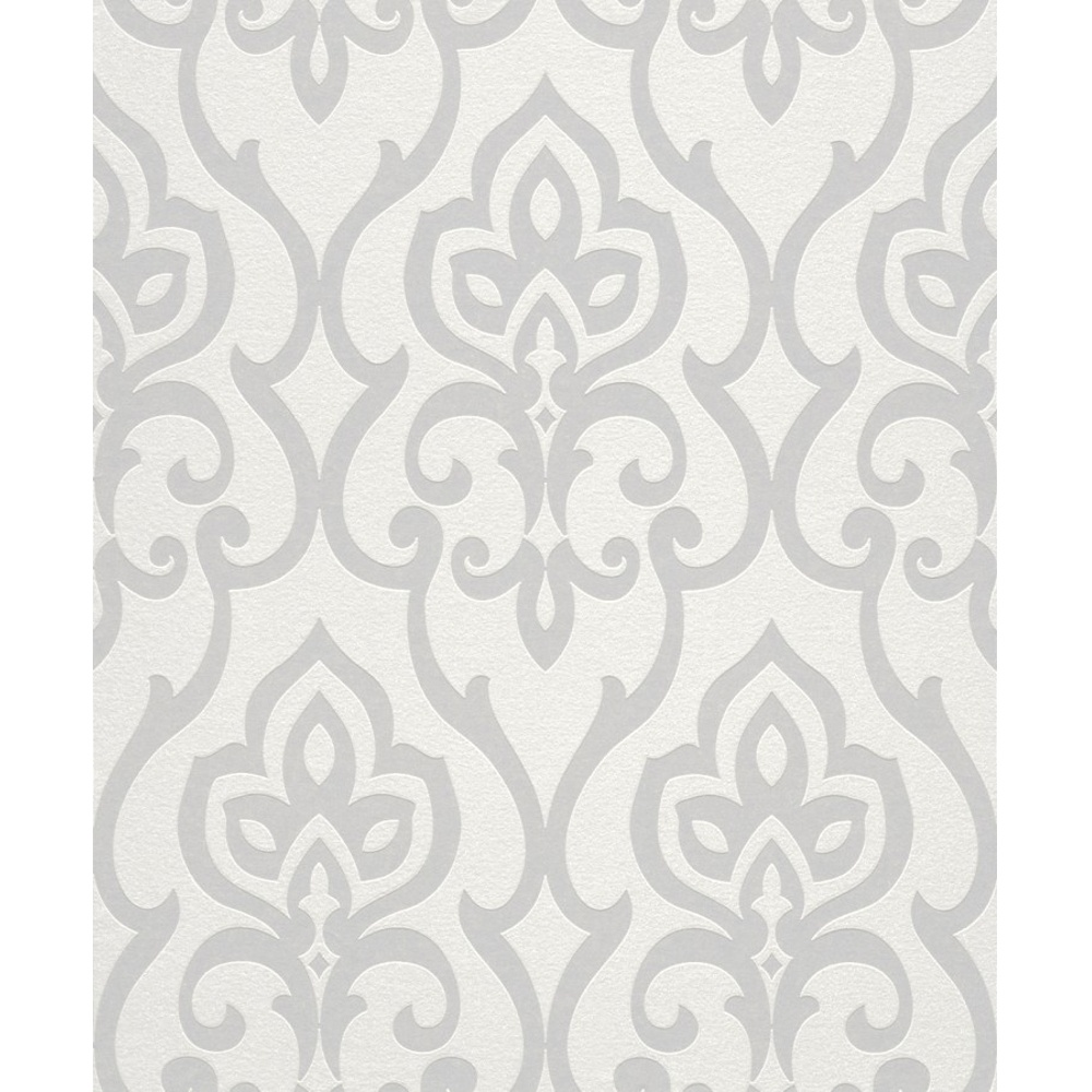 Rasch Barbara Becker Damask Motif Patterned Metallic Textured Glitter Wallpaper 717068