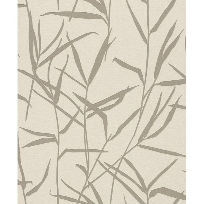 Rasch Barbara Becker Floral Leaf Motif Patterned Metallic Textured Wallpaper 709902
