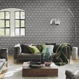Rasch Barbara Becker Leather Diamond Pattern Wallpaper Metallic Faux Effect 479539