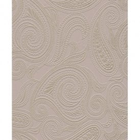 Rasch Barbara Becker Paisley Motif Patterned Embossed Metallic Lilac Silver Wallpaper 716719
