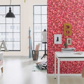 Rasch Barbara Becker Pink Flower Petals Pattern Wallpaper Floral Textured 476002