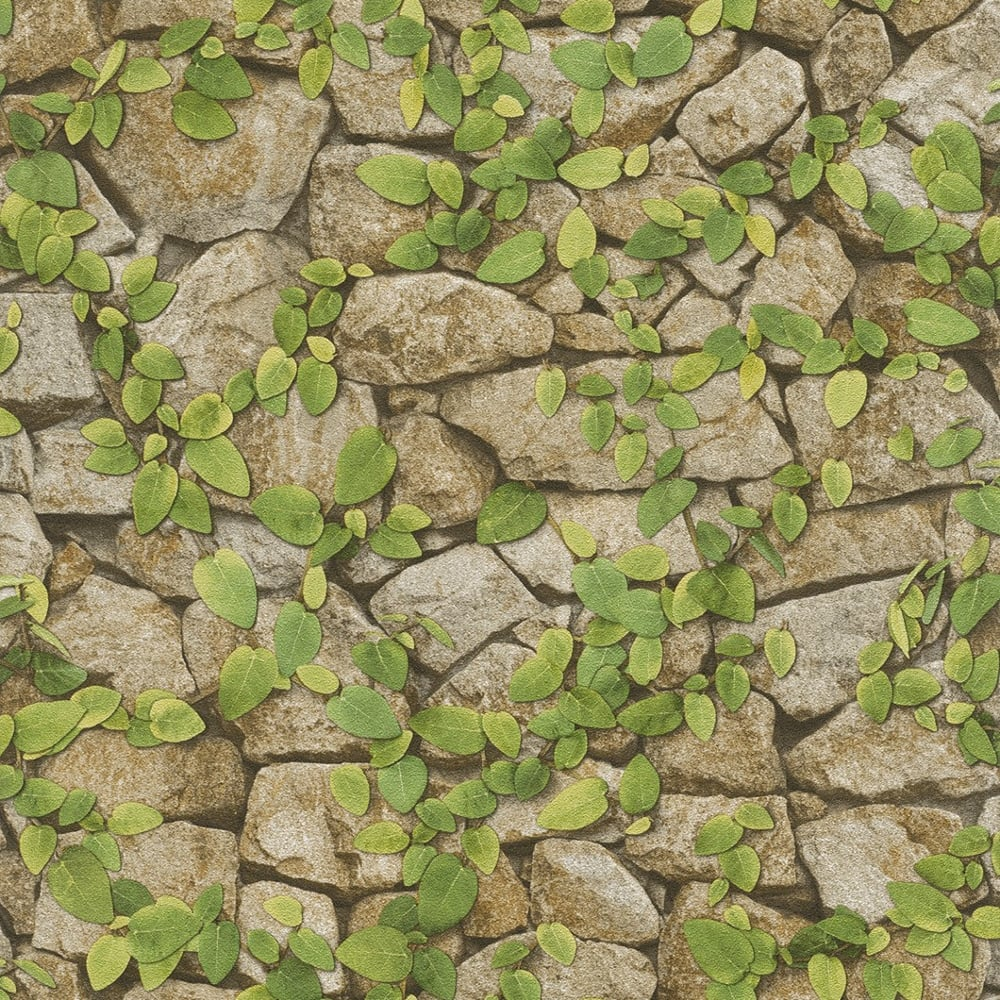rasch barbara becker stone wall pattern wallpaper faux effect vine