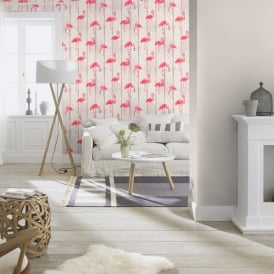 Rasch Barbara Becker Wood Panel Pattern Wallpaper Faux Effect Flamingo Bird Motif 479720