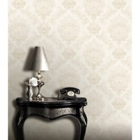 Rasch Bloomsbury Damask Pattern Floral Motif Traditional Metallic Wallpaper 204803