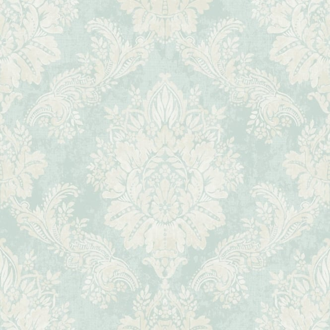 Rasch Bloomsbury Damask Pattern Floral Motif Traditional Metallic Wallpaper 204810