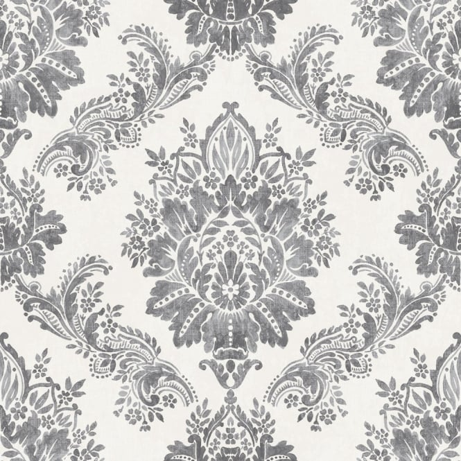 Rasch Bloomsbury Damask Pattern Floral Motif Traditional Metallic Wallpaper 204834