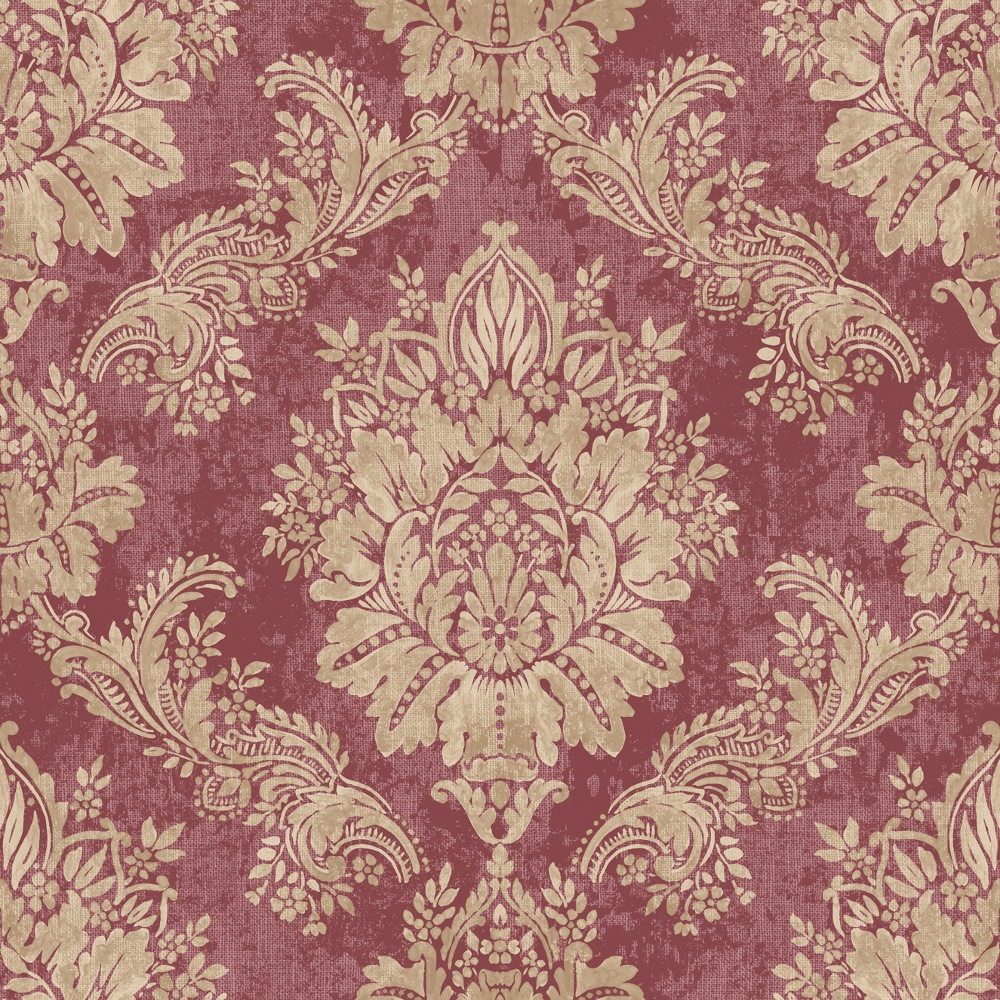 Rasch bloomsbury damask pattern floral motif metallic - Barock wallpaper ...