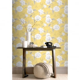 Rasch Boutique Flower Pattern Wallpaper Floral Leaf Botanical Metallic Pencil Motif 226164