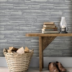 Rasch Brick Pattern Wallpaper Faux Effect Realistic Embossed Textured Metallic 281200