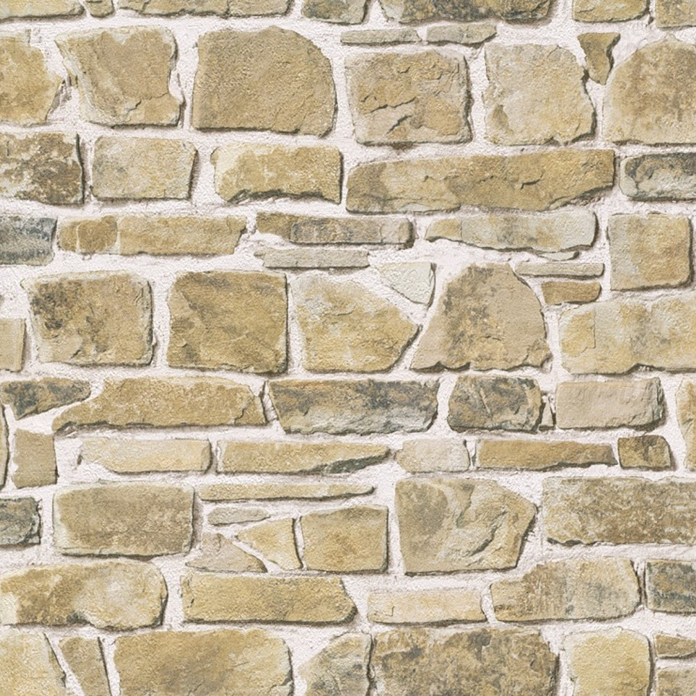 Rasch brick wall pattern faux effect realistic mural for Wallpapering a wall