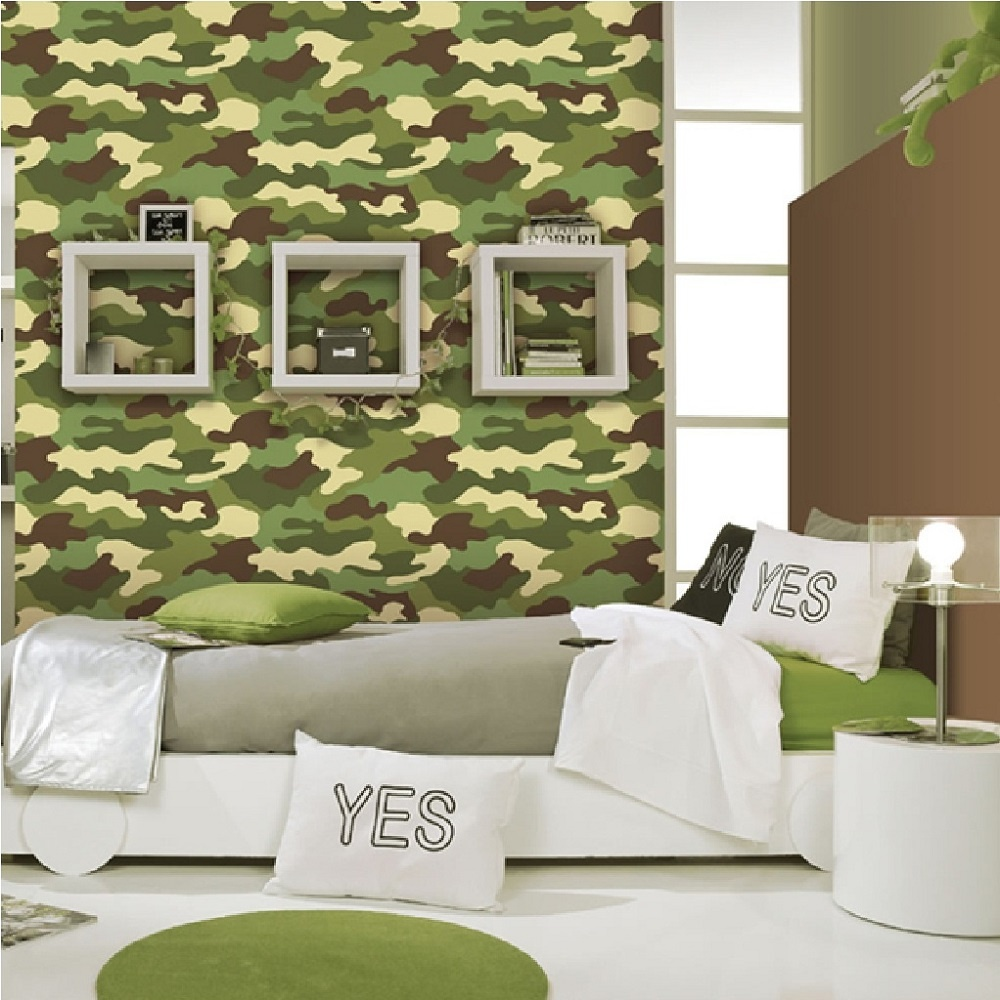 Camouflage Childrens Wallpaper 222821