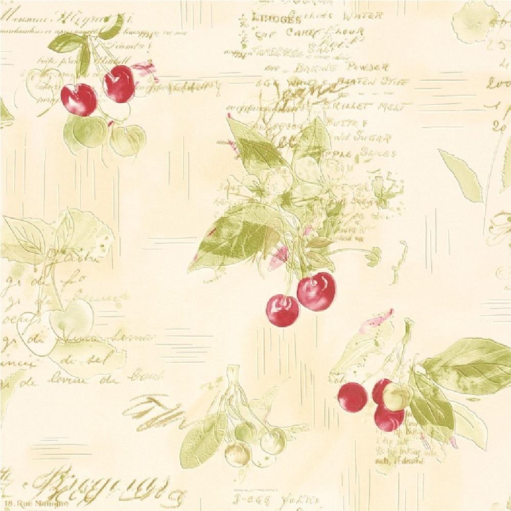 Kitchen Wallpaper Texture rasch cherries recipes baking textured vinyl kitchen wallpaper 837506