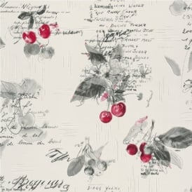 Rasch Cherries Motif Wallpaper 837513