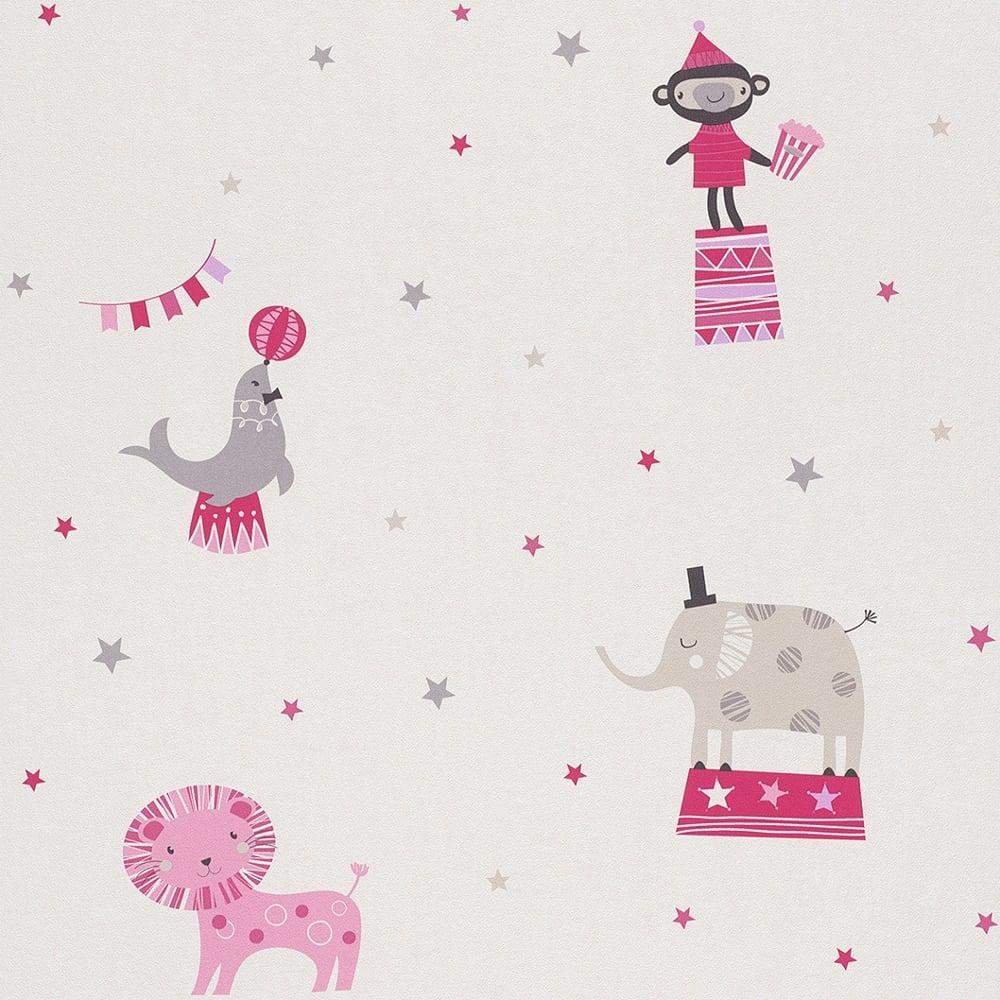 Good Wallpaper Cartoon Elephant - rasch-circus-pattern-childrens-wallpaper-lion-elephant-monkey-cartoon-star-245004-p5012-13757_image  Gallery_801392  .jpg