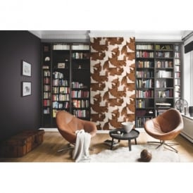 Rasch Cow Skin Pattern Faux Effect Animal Fur Print Textured Wallpaper 473902