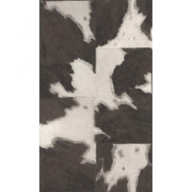 Rasch Cow Skin Pattern Faux Effect Animal Fur Print