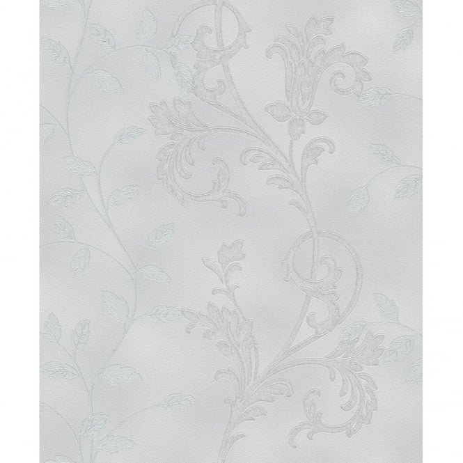 Rasch Diamond Dust Flower Floral Leaf Motif Pattern Textured Metallic Glitter Wallpaper 450507
