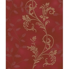 Rasch Diamond Dust Flower Floral Leaf Motif Pattern Textured Metallic Glitter Wallpaper 450545