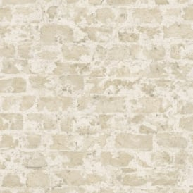 Rasch Factory Painted Brick Pattern Stone Wall Textured Mural Wallpaper 446210