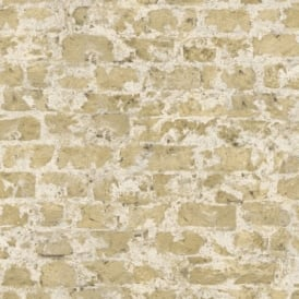 Rasch Factory Painted Brick Pattern Stone Wall Textured Mural Wallpaper 446272