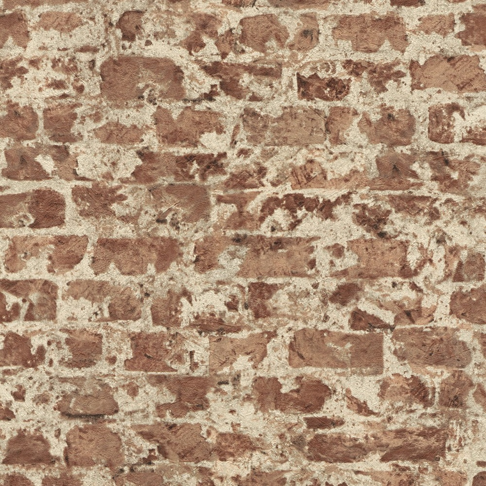 Rasch factory painted brick pattern stone wall textured for Tapete steinwand