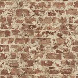 Rasch Factory Painted Brick Pattern Stone Wall Textured Mural Wallpaper 446289