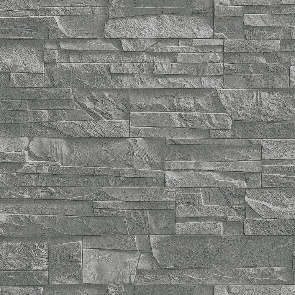 Rasch Factory Slate Brick Pattern Stone Faux Effect