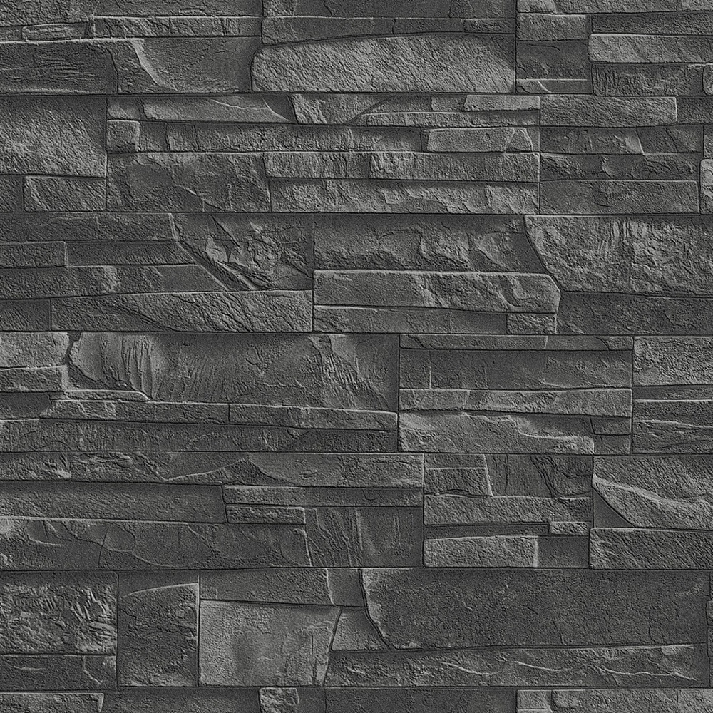 Rasch Factory Slate Brick Pattern Stone Faux Effect ...