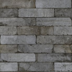 Rasch Factory Stone Pattern Brick Wall Faux Effect Textured Mural Wallpaper 446333