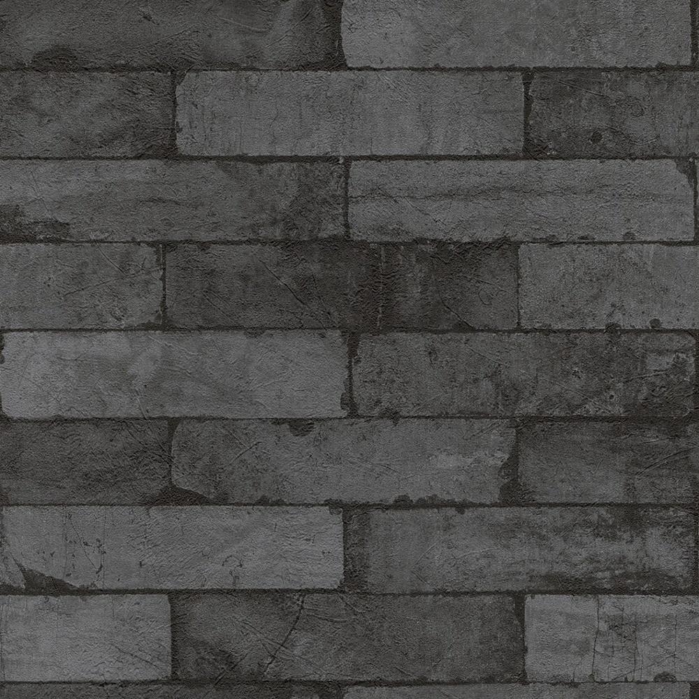 Rasch Rasch Factory Stone Pattern Brick Wall Faux Effect Textured Mural Wallpaper 446340