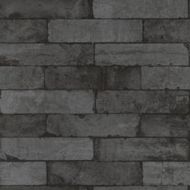 Rasch Factory Stone Pattern Brick Wall Faux Effect Textured Mural Wallpaper 446340