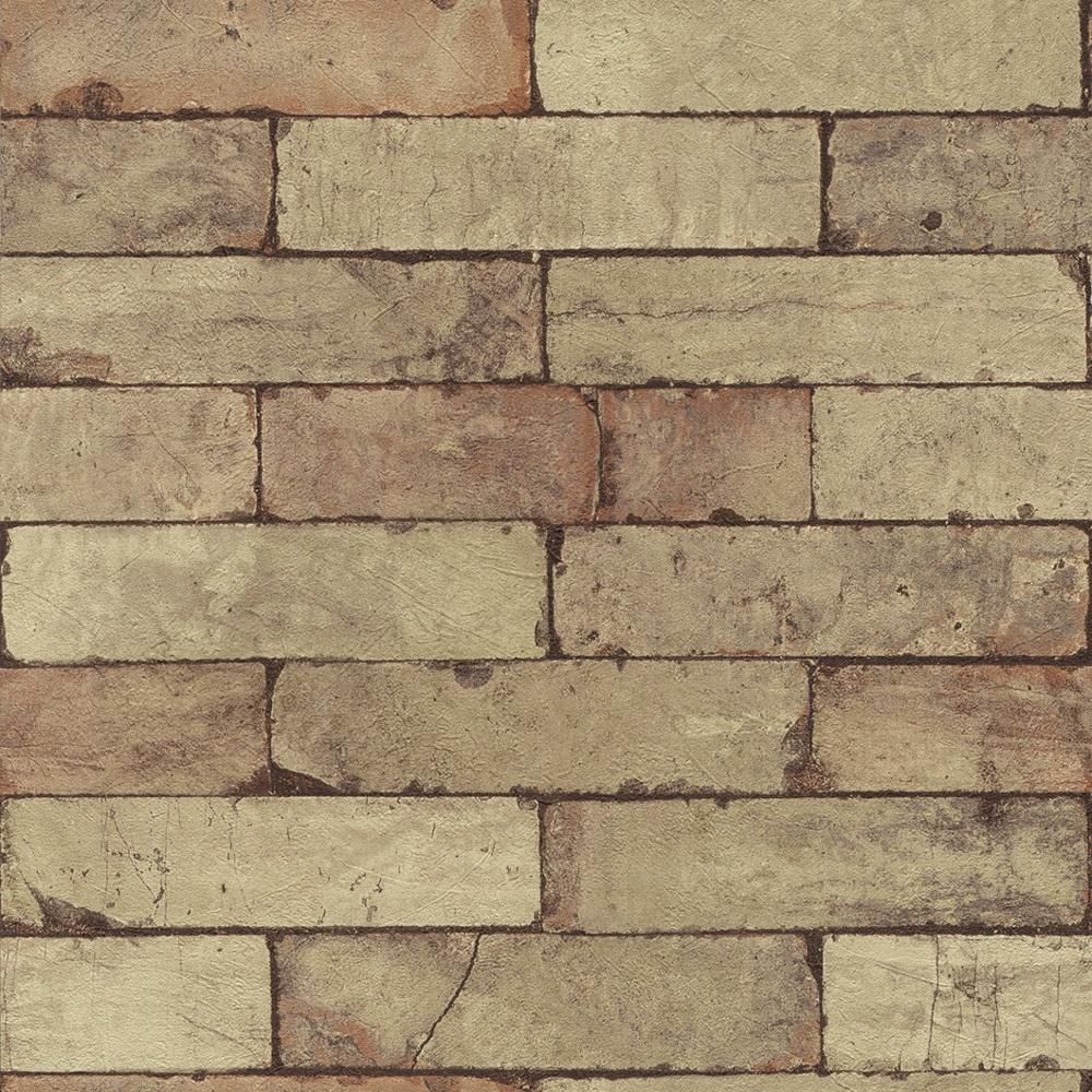 Rasch factory stone pattern brick wall effect mural for 3d brick wallpaper uk