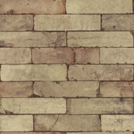 Rasch Factory Stone Pattern Brick Wall Faux Effect Textured Mural Wallpaper 446388