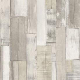 Rasch Factory Wooden Panel Beam Pattern Faux Effect Textured Wallpaper 446715