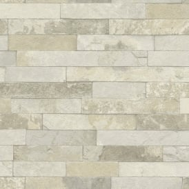 Rasch Factory Worn Brick Pattern Stone Effect Textured Mural Wallpaper 475111