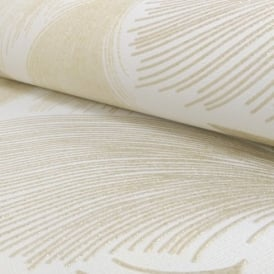 Rasch Gatsby Fan Pattern Feather Glitter Motif Textured Vinyl Wallpaper 319712