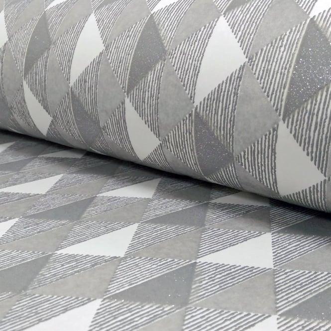 Wallpaper For Bathrooms Vinyl Washable Wallpaper: Rasch Harlequin Triangle Stripe Pattern Kitchen Bathroom