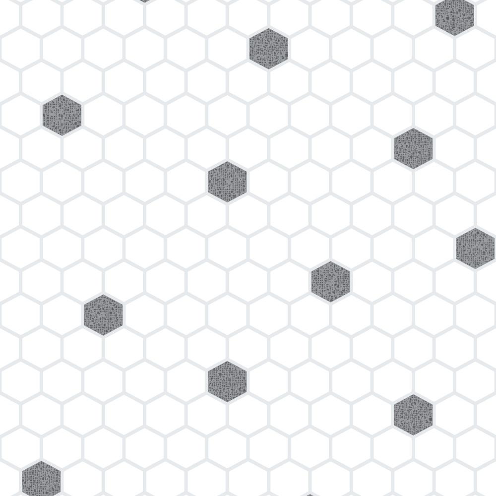 Rasch Honeycomb Hexagon Pattern Glitter Kitchen Bathroom Vinyl ...