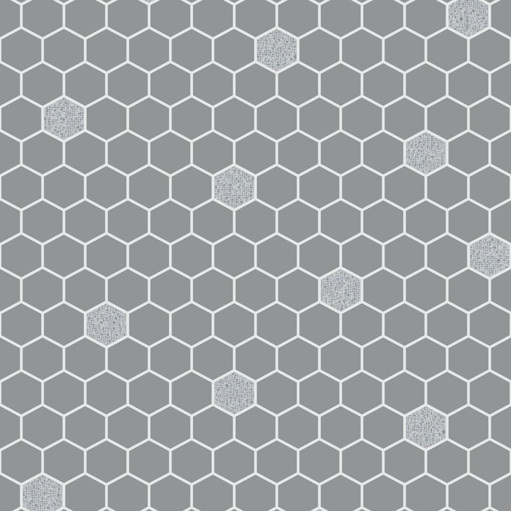 Rasch Honeycomb Hexagon Pattern Glitter Kitchen Bathroom Vinyl Wallpaper 861914