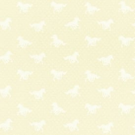 Rasch Horse Motif Polka Dot Pattern Girls Childrens Washable Wallpaper 290400