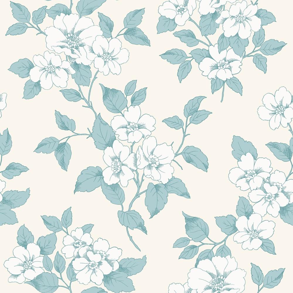 rasch jardin floral leaf pattern silver teal flower motif. Black Bedroom Furniture Sets. Home Design Ideas