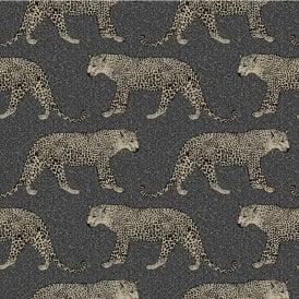 Animal Stag Glitter Shimmer Metallic Wallpaper Textured Grey Taupe Silver Rasch